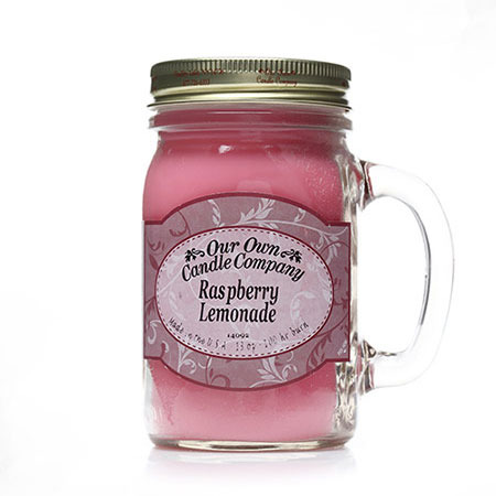 OOCC 1+1메이슨자 소이캔들/011738 RASPBERRY LEMONADE 아워오운캔들/산딸기와 레몬향, 생기발랄한 향